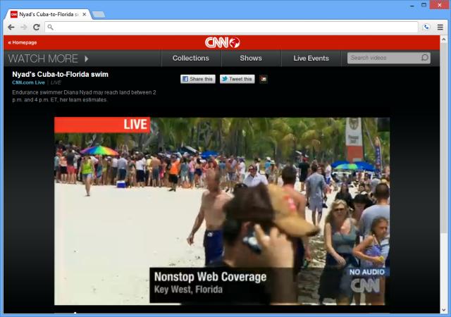 cnn streaming live from diana nyad�s cubaflorida swim