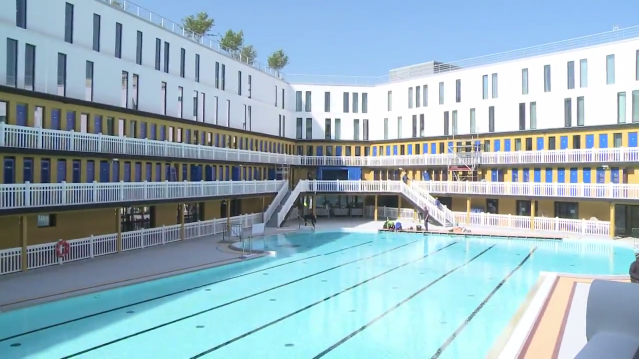 Paris legendary piscine molitor reopens after 25 years of for Piscine molitor swimming pool