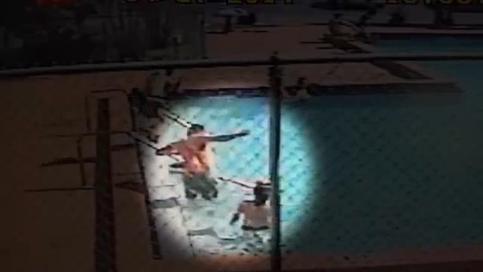 Surveillance video shows children shocked in swimming pool for Swimming in pool after shocking