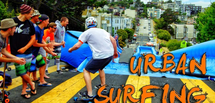 What happens when you set up a giant slip 'n slide in san francisco