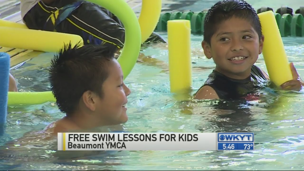 Ymca free swim lessons for kids for Swimming pool lessons for kids