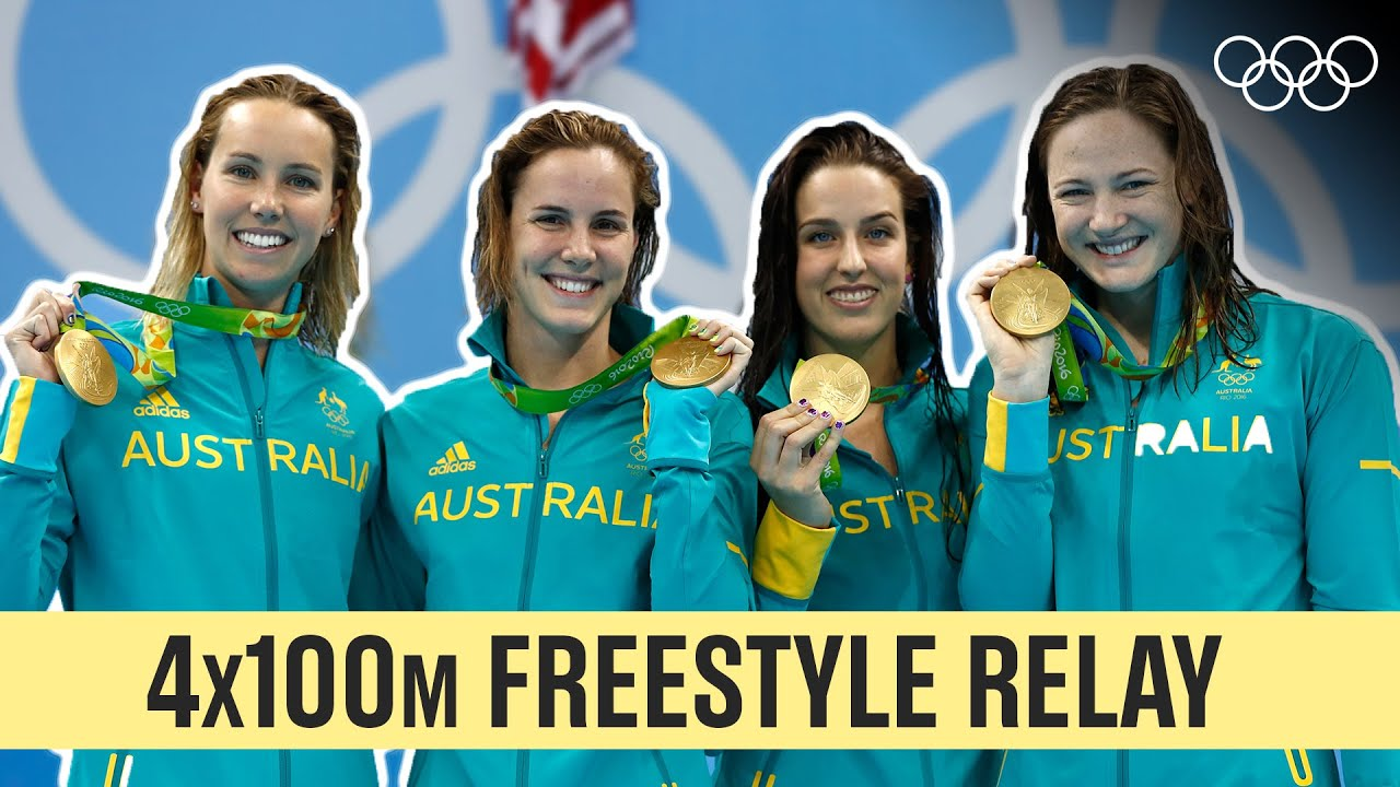 Last 5 Champions of Women's 4x100m Freestyle Relay 🏊♀️